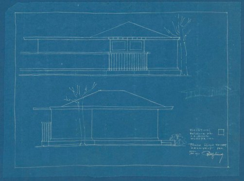 From the Frank Lloyd Wright architectural drawings, collection 101