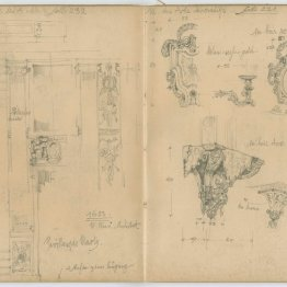 Sketches from Paris sketchbook, 1912