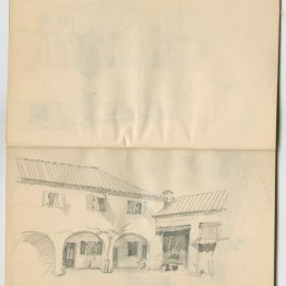 Spanish country house, from sketchbook, 1920 or later
