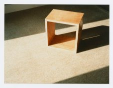 "This is a stool designed by Maynard Lyndon for various family members. He referred to it as the ""best stool."""