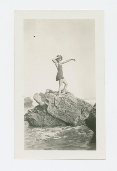 Photo of Lutah Maria Riggs at the beach, August 1932. From the Lutah Maria Riggs Papers, collection 169.