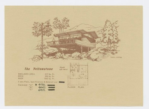 Postcard mailer advertising the Yellowstone Model, from the Walter S. White papers, collection 193.