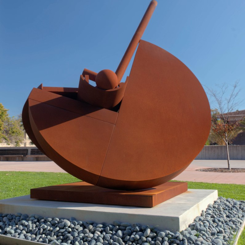 "Fletcher Benton, ""Folded Circle T and Arc,"" Cor-ten Steel."
