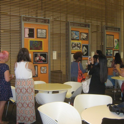 The high school students' exhibition at the SRB.