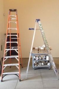 fall 2015 exhibition installation shots work in progress ladders