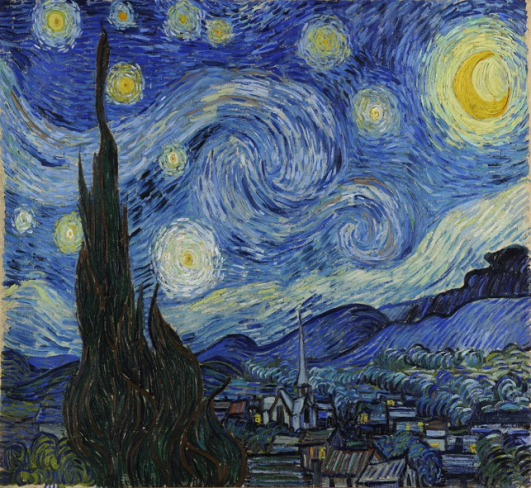 Vincent van Gogh: The Starry Night (1889)- Fine Arts