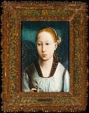 Juan de Flandes, Portrait of an Infanta, (front) 15th C